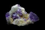 Fluorit-Quarz-Baryt  Berbes Spanien   7x5cm