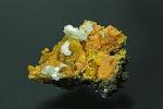Wulfenit-Baryt-Mimetesit  Rowley Mine-Maricopa County Arizona USA 8x5cm