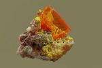 Wulfenit, Mimetesit- Rowle Mine, Arizona USA 2x2cm